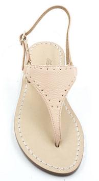 """sandalo artigianale infradito """"NEFERTITI"""" colore rosa-pesca."""