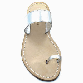 "Sandali artigianali infradito"" amalfi"" colore argento ."