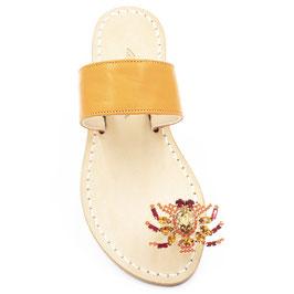 """Sandali gioiello """"Zoe"""" arancione -corallo."""