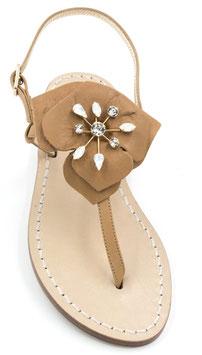 "Sandali artigianali ""Penelope"" Cuoio ."
