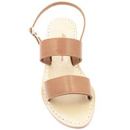 """Sandalo artigianale classico modello """"FRANCESCANO"""" colore cuoio"""