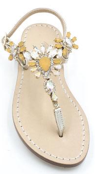 "Sandali artigianali Modello ""Diana"" giallo"