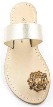 """sandali artigianali """"berta""""colore oro platino. ."""