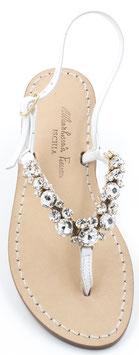 """Sandali da sposa modello """"Queen Victoria"""" Bianchi. Galvanica Oro. ."""