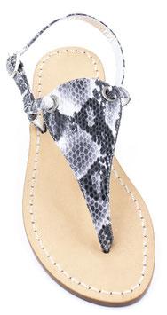 "Sandali  artigianali modello ""Venere"" pitonato grigio"