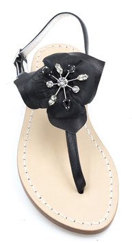 """Sandali artigianali modello """"Penelope"""" Nero."""