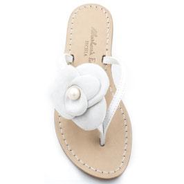 """Sandali artigianali modello """"Camelia"""" modello v. colore nero."""
