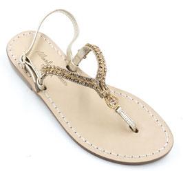 "Sandali artigianali modello ""Demetra"" Oro,"