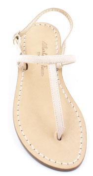 """sandali artigianali infradito """"Ermes""""rosa, cipria effetto lucido."""