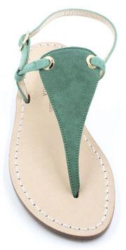 "Sandali  artigianali modello ""Venere"" verde camoscio"