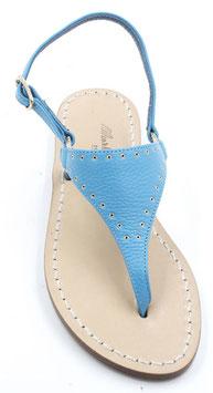 """Sandali artigianali modello """"NEFERTITI"""" turchese."""
