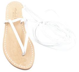 Sandali alla schiava - in pelle bianchi.