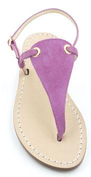 """Sandali artigianali modello """"venere """" camoscio fucsia."""