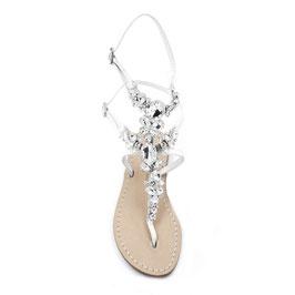 """Sandali da sposa modello """"Febe"""" argento."""