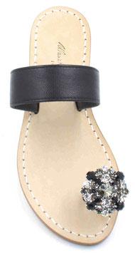 "sandali artigianali ""berta""colore nero."