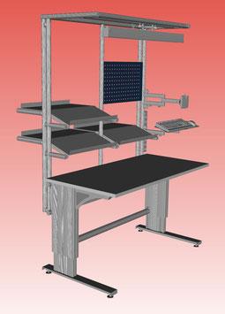 Arbeitstisch High-Table Motor 1.500 x 750 mm