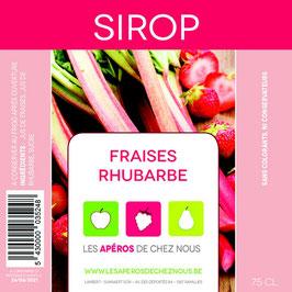 Sirop de fraises-Rhubarbe