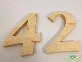 Holz Ziffern geölt Typ 1