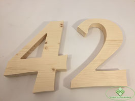 Holz Ziffern Typ 1