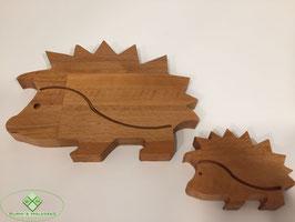 Igel aus Holz