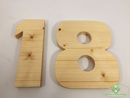 Holz Ziffern geölt Typ 2