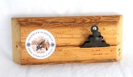 Notizhalter mit Rustikaler Klemme und  Motivträger,  Altholz, Wandmontage