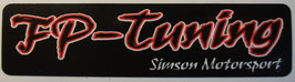 FP Aufkleber klein Logo Schriftzug 120mmx30mm