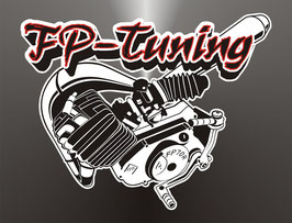 FP Aufkleber Motor Logo klein Ø  125mm