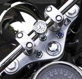 montre de guidon chromée