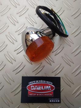 clignotant avant  daelim daystar  chromé/orange