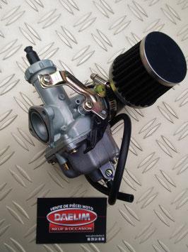 carburateur racing avec cornet déporté pour  daelim vt, daystar vl, vs, roadwin vj.