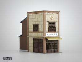 3軒続きの看板建築B(1/80,1/87)未塗装