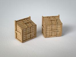 木製ゴミ箱 2セット入り(1/80)カラー