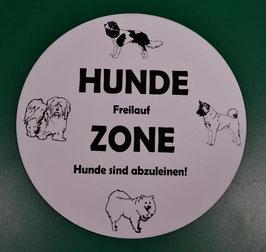 Hunde Freilauf Zone