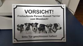 Warnschild mit Foto (ab 4 Hunde)