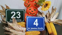 Hausnummern Schild Wiener Norm