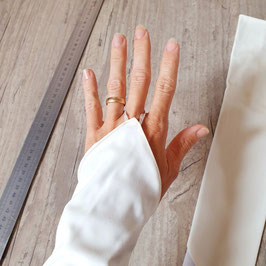 Mitaine de mariée ivoire mat polyester stretch 45cm
