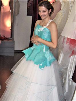 Robe de mariée, en cuir recyclé, ETOILE d' EDEN, blanche ou en couleur