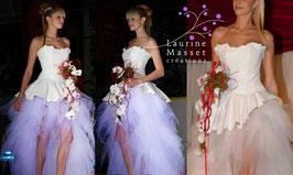 Robe de mariée, en cuir recyclé, ou simili cuir, vegan, Etoile des Neiges, blanche ou couleur