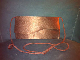 Pochette satin marron