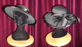 Chapeau Satin noir