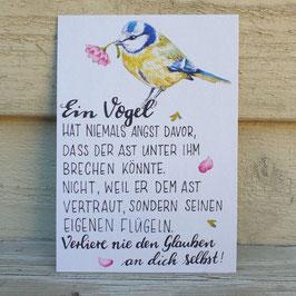 """""""Ein Vogel... """" Künstlerkarte"""