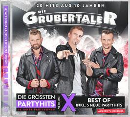 CD - Die Grubertaler - Die größten Partyhits - Volume X