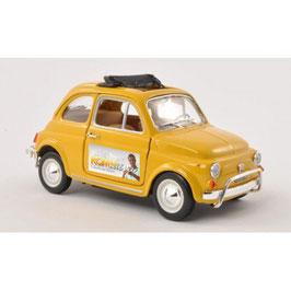 """Florians Blitz """"Fiat 500 L"""" als Modell in gelb"""