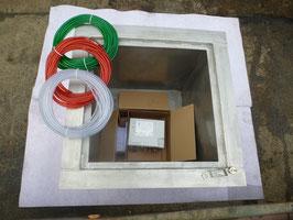 Doppelwandiger Pumpensumpf mit Vacuumüberwachnug