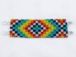 Chaquira-Armband SCHACH