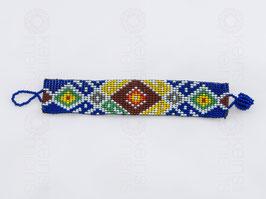 Chaquira-Armband BUNTE RAUTEN