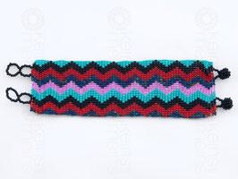 Chaquira-Armband ZICKZACK
