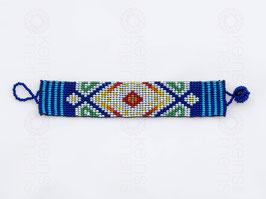 Chaquira-Armband WEISSE RAUTEN