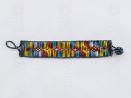 Chaquira-Armband BUNT
